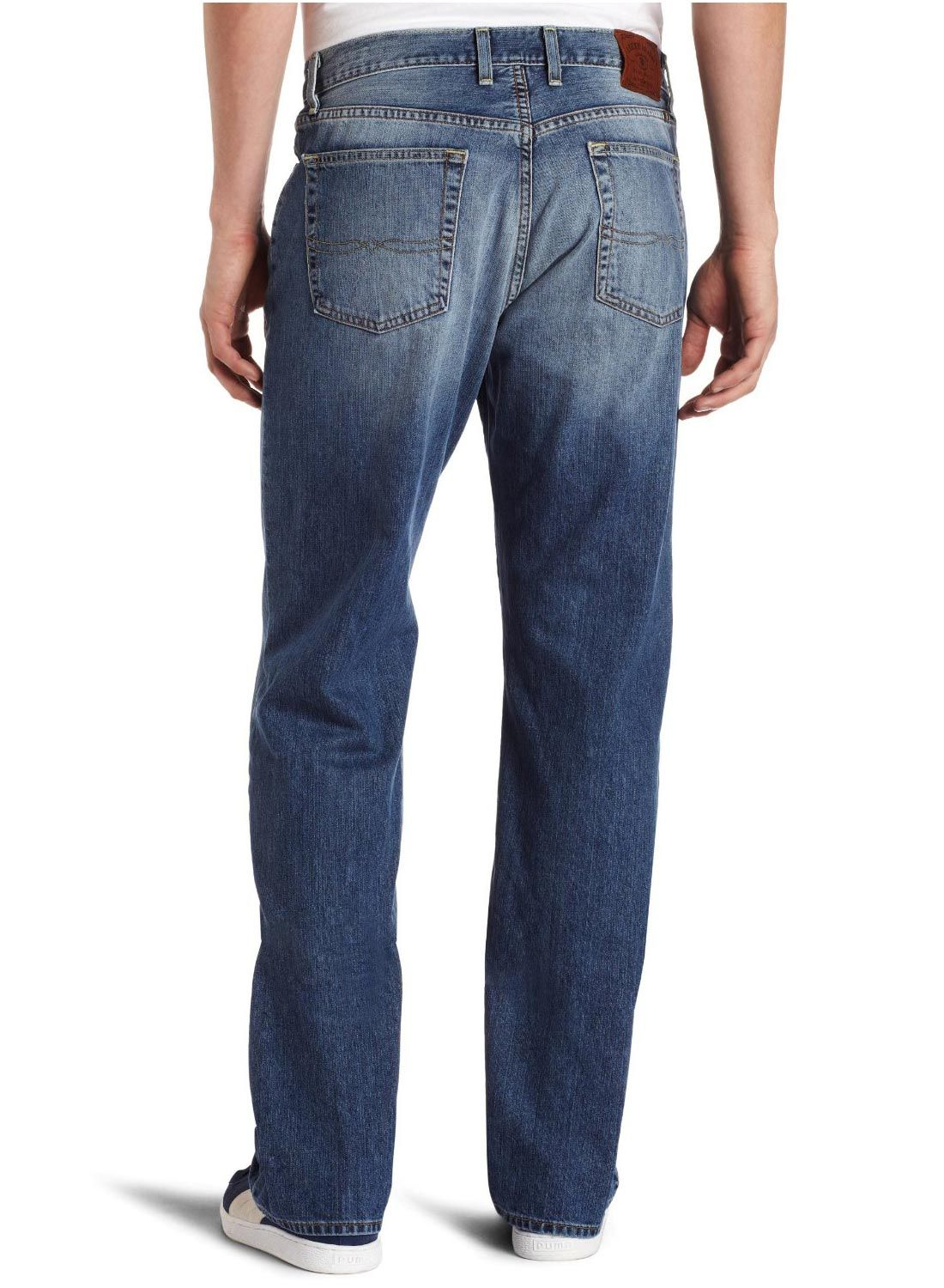 Lucky Brand 181 Relaxed Straight Jeans Mid Rise Mens Blue Jean OL