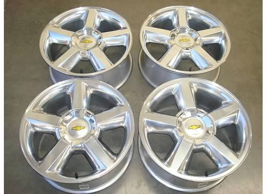 TAHOE Suburban AVALANCHE WHEELS Rims OEM LTZ 07 12 11 Factory POLISHED