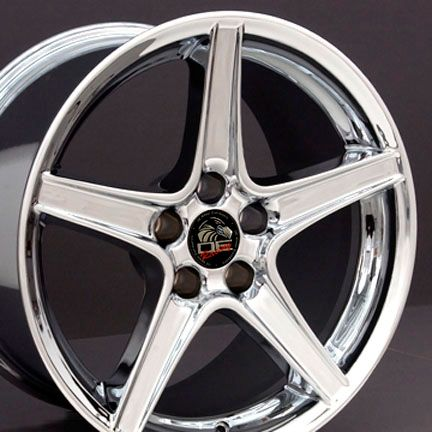 18 9 10 Chrome Saleen Wheels Rims Fit Mustang® 94 04