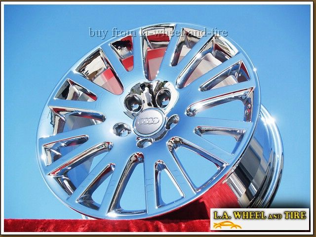 NEW 17 AUDI A6 FACTORY OEM CHROME WHEELS RIMS A3 A4 S4 A8 A8L 58780